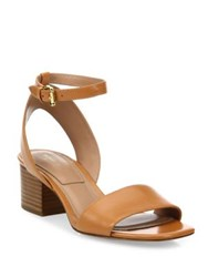 Michael Kors Sam Leather Ankle Strap Sandals Black Brown