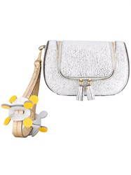 Anya Hindmarch Mini Circulus Vere Clutch Women Leather One Size Grey