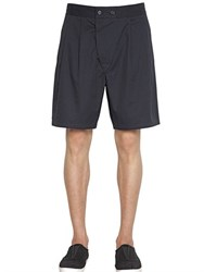 Christophe Lemaire Soft Cotton And Linen Twill Bermuda Shorts