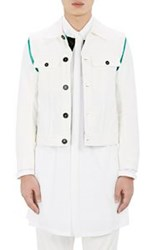 Ann Demeulemeester Sleeveless Jacket And Detachable Long Sleeve Shirt Wh White