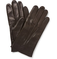 Loro Piana Cashmere Lined Leather Gloves Brown