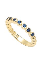 Lagos Women's Covet Stone Caviar Stack Ring Gold Blue Sapphire