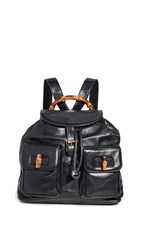 Wgaca What Goes Around Comes Around Gucci Black Leather Backpack