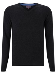 John Lewis Made In Italy Cashmere V Neck Jumper Charcoal