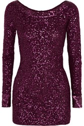 Donna Karan New York Sequined Cashmere Tunic Grape