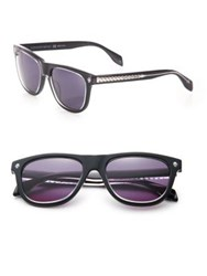 Alexander Mcqueen Ghost Skull 53Mm Rectangle Sunglasses Black
