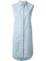Levi's Made And Crafted Sleeveless Shirt Dress Blue
