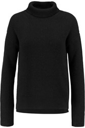 Helmut Lang Ribbed Knit Wool And Cashmere Turtleneck Sweater Black