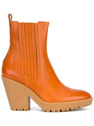 Maison Martin Margiela Pointed Toe Ankle Boots Yellow Orange