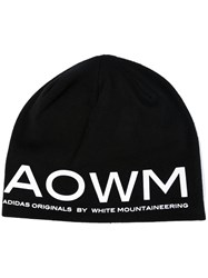 Adidas By White Mountaineering Logo Printed Beanie Black