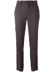 Pt01 Printed Slim Fit Trousers Grey