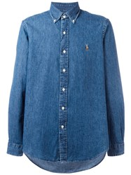Polo Ralph Lauren Button Down Denim Shirt Blue