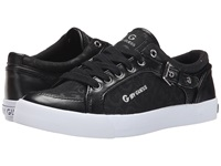 G By Guess Omeni Black Black Shining Black White Women's Lace Up Casual Shoes