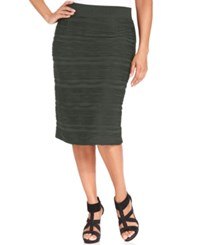 Alfani Plus Size Textured Pencil Skirt Urban Olive