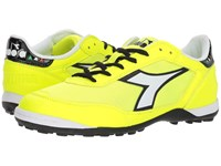 Diadora Cinquinha Tf Fluo Yellow White Soccer Shoes