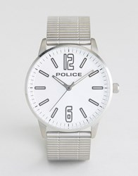 Police Esquire Stainless Steel Bracelet Watch With Silver Dial Silver
