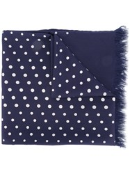 Universal Works Dots Scarf Blue