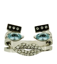 Delfina Delettrez Diamond Portrait Ring Female Blue