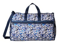 Lesportsac Luggage Extra Large Weekender Blooming Silhouettes Duffel Bags Blue