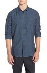 Descendant Of Thieves Neppy Chambray Sport Shirt Blue Grey