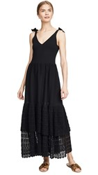 Rebecca Taylor La Vie Sleeveless Lace Dress Black
