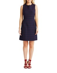 Donna Morgan Sleeveless Fit And Flare Dress Blue
