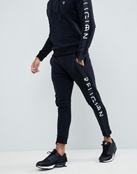 Religion Skinny Fit Trousers With Leg Taping In Black