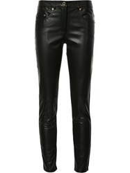 Boutique Moschino Skinny Two Tone Trousers Black