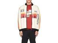 Filling Pieces Washed Paper Bomber Jacket Multi