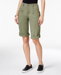 Style And Co Petite Cuffed Bermuda Shorts Only At Macy's Deep Black