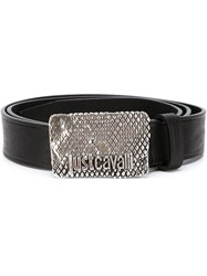 Just Cavalli Logo Plaque Belt Black
