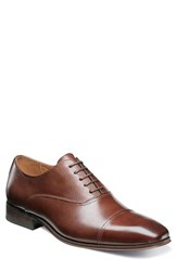 Florsheim Men's Corbetta Cap Toe Oxford Cognac Leather