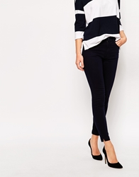 Whistles Navy Ankle Length Skinny Jean