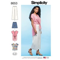 Simplicity 'S Tops Trousers And Shorts Sewing Pattern 8653