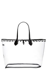 Steve Madden Transparent Tote White Clear