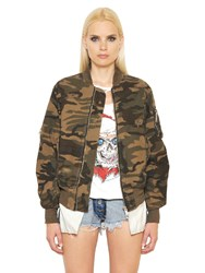 Unravel Camo Military Cotton Bomber Jacket