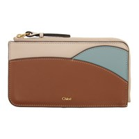 Chloe Brown And Blue Walden Zippered Card Holder