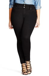 City Chic Plus Size Women's 'Harley' High Rise Stretch Skinny Jeans