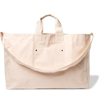 Albam Cotton Canvas Tote Bag White