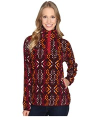 Woolrich Trail Blazing Printed Pullover Wine Women's Sweatshirt Burgundy