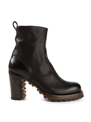 Silvano Sassetti Ridged Sole Boots Brown