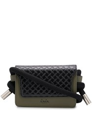 Lala Berlin Quilted Cord Style Belt Bag Black