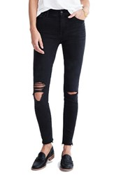 Madewell Women's High Waist Raw Hem Skinny Jeans