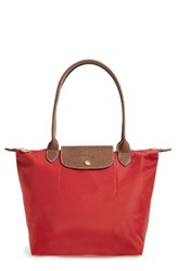 Longchamp 'Small Le Pliage' Shoulder Bag Red Burnt Red
