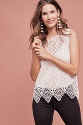 Anthropologie Lacework Shell Ivory