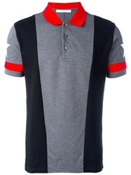 Givenchy Paneled Polo Shirt Black