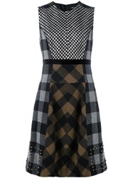Etro Checked Skirt Dress Multicolour