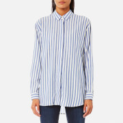 Samsoe And Samsoe Women's Caico Shirt Surf The Web Stripe Multi
