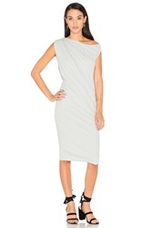 James Perse One Shoulder Draped Dress Gray