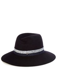 Maison Michel Virginie Fur Felt Hat Navy